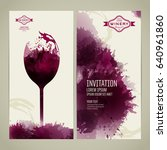 invitation template for event... | Shutterstock .eps vector #640961860