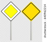 street  road sign  main road... | Shutterstock .eps vector #640962214
