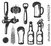 set of beer craft beer ... | Shutterstock .eps vector #640963129