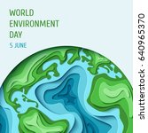 world environment day concept.... | Shutterstock .eps vector #640965370