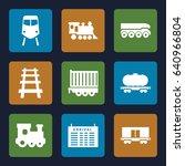 train icons set. set of 9 train ...   Shutterstock .eps vector #640966804