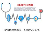 health care  stethoscope ... | Shutterstock .eps vector #640970176