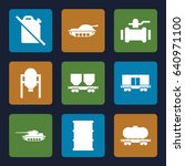 tank icons set. set of 9 tank... | Shutterstock .eps vector #640971100