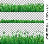 green grass vector collection... | Shutterstock .eps vector #640976170