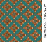 vector seamless pattern.... | Shutterstock .eps vector #640976749