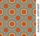 vector seamless pattern.... | Shutterstock .eps vector #640976869