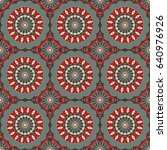vector seamless pattern.... | Shutterstock .eps vector #640976926
