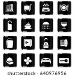 hotel room services vector... | Shutterstock .eps vector #640976956
