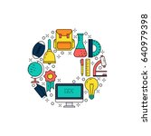 illustration of symbols school... | Shutterstock .eps vector #640979398