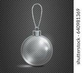 clear transparent glass... | Shutterstock . vector #640981369