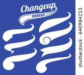 vintage swash baseball logo... | Shutterstock . vector #640984213