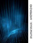 digital technology abstract... | Shutterstock . vector #640984240