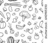 fruit and vegetable  vegan food ... | Shutterstock . vector #640985350