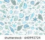 summer time horizontal banner.... | Shutterstock .eps vector #640992724