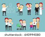family life cycle cartoon... | Shutterstock .eps vector #640994080