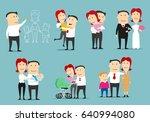 family life cycle cartoon... | Shutterstock .eps vector #640994080