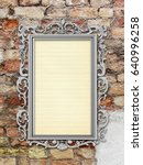 silver blank picture baroque... | Shutterstock . vector #640996258