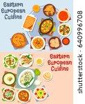 eastern european cuisine icon... | Shutterstock .eps vector #640996708