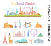 best world attractions vector... | Shutterstock .eps vector #640996939