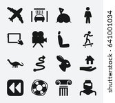 flat icon. set of 16 flat... | Shutterstock .eps vector #641001034