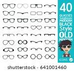 sunglasses icons | Shutterstock .eps vector #641001460