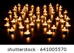 Group Of Burning Candles With...