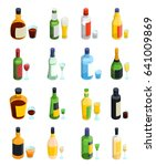 colored isometric alcohol icon... | Shutterstock .eps vector #641009869
