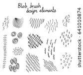 blob brush hand drawn design... | Shutterstock .eps vector #641010874