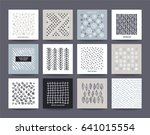 artistic templates collection ... | Shutterstock .eps vector #641015554