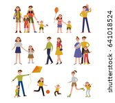 family activity and leisure.... | Shutterstock .eps vector #641018524