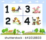 collection number for kids ... | Shutterstock .eps vector #641018833