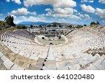 ruins of bodrum antique theatre ... | Shutterstock . vector #641020480