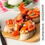 italian restaurant freshly... | Shutterstock . vector #641024449