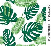 seamless tropical pattern with... | Shutterstock .eps vector #641031250