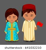 moroccans in national dress... | Shutterstock .eps vector #641032210