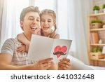 happy father's day  child... | Shutterstock . vector #641032648