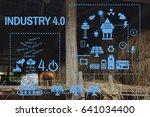 concept solar energy industry 4.... | Shutterstock . vector #641034400