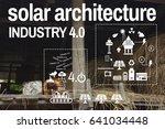 solar energy industry 4.0... | Shutterstock . vector #641034448