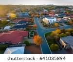 aerial view of a typical suburb ... | Shutterstock . vector #641035894