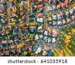 aerial view of a typical suburb ... | Shutterstock . vector #641035918