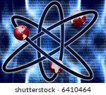 science background  atom sign... | Shutterstock . vector #6410464