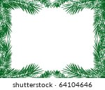 green christmas tree branch... | Shutterstock . vector #64104646