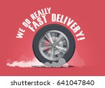 we do really fast delivery.... | Shutterstock .eps vector #641047840