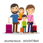 family vacation. family people... | Shutterstock . vector #641047864