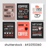 set of hand drawn cup and... | Shutterstock .eps vector #641050360