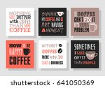 set of hand drawn cup and... | Shutterstock .eps vector #641050369