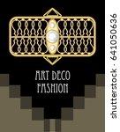 expensive art deco filigree... | Shutterstock .eps vector #641050636