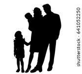 vector silhouette of family... | Shutterstock .eps vector #641052250