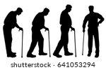 vector silhouette of man on...   Shutterstock .eps vector #641053294