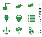 navigation icons set. set of 9...